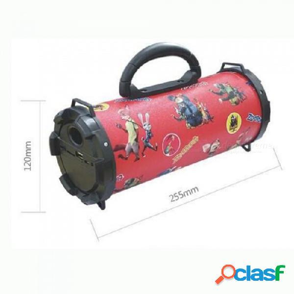 Altavoz inalámbrico del bluetooth, mini altavoz al aire libre portátil impermeable de la caja de la columna del altavoz de la bicicleta para el teléfono rojo / altavoz