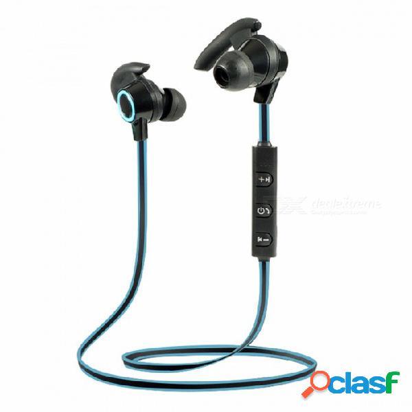 Auriculares inalámbricos bluetooth 4.1 en la oreja auriculares estéreo a prueba de sudor auriculares bajos de alta fidelidad para iphone xiaomi samsung huawei negro