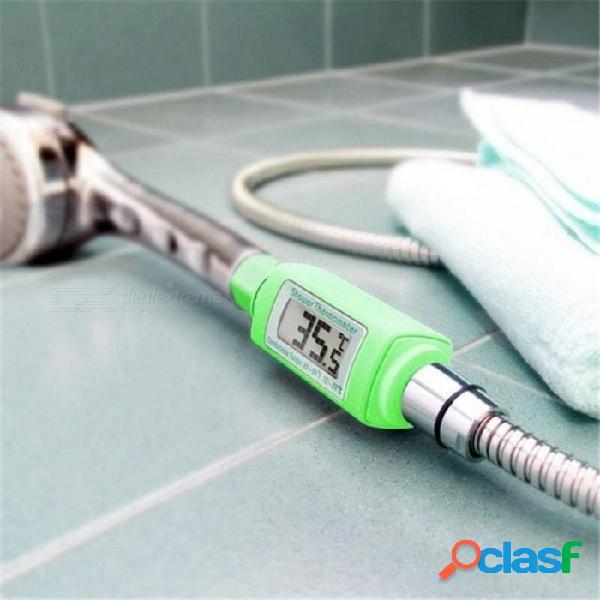Cabeza de ducha digital a prueba de agua termómetro de agua pantalla lcd estándar baño termómetro de ducha plug and play de 0 a 60 grados