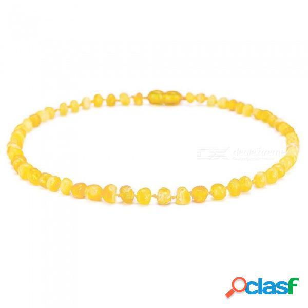 Collares y pulseras de ámbar del ámbar báltico con hechizos redondos de varios tamaños con opciones de varios colores estándar 13in 33cm / multicolor