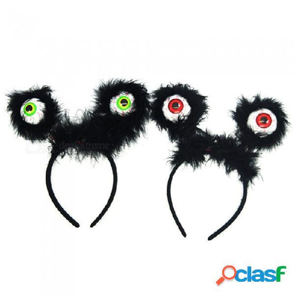 Novedad ojos grandes estilo resplandor en la oscuridad hairband partido tocado decoraciones de halloween suministros para fiestas regalos