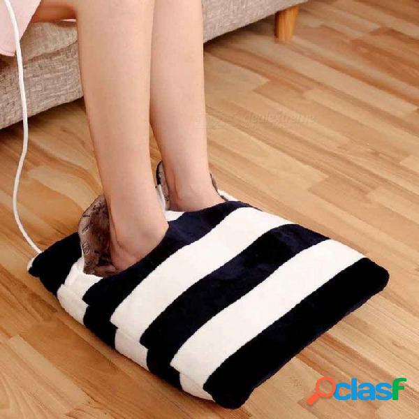 Pie mano calentador almohadilla de calefacción zapatillas sofá silla cojín térmico almohadillas de calefacción eléctrica zapatos calientes invierno cálido manta eléctrica marrón