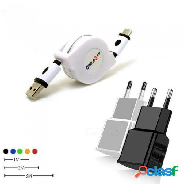 1/2/3 metro cable retráctil tipo c usb para huawei note 10 p20 / mate 10 pro cargador de teléfono móvil retráctil cable de carga largo negro / 1m (0.96m)