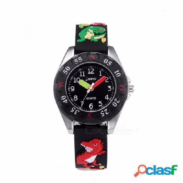 Dibujos animados 3d dinosaurio camión de bomberos banda de goma reloj de cuarzo analógico niños pequeños estudiante relojes de pulsera para niños 30 m a prueba de agua
