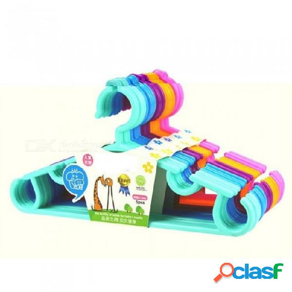 Niños perchas de ropa portátil de 270 grados diseño de gancho de arco ropa al aire libre tendedero para niños plástico perchas bebé 5 unids / lote púrpura