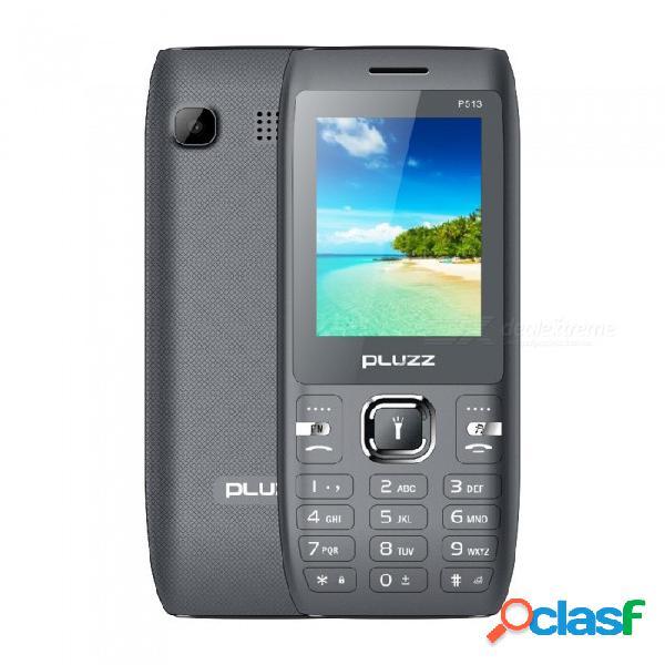 Pluzz p513 spreadtrum 6531e cuatro antorchas 3000 mah teléfono con función de batería de alta capacidad - gris