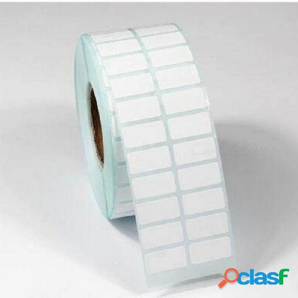 20 * 10 mm 3000 unids rodillo de papel térmico resistente al rayado resistente al agua / muchos adhesivos en blanco / etiqueta de papel térmico código de barras 20 * 10 mm