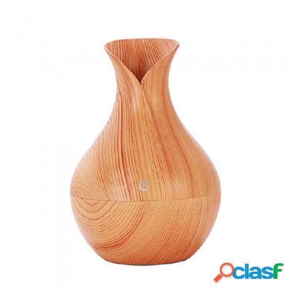 Forma de florero 130ml difusor de aceite esencial ultra silencioso, humidificador de aromaterapia ultrasónico con luz led de 7 colores
