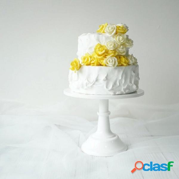 Grand baker cake stand de 10 pulgadas herramientas de la torta de boda altura ajustable fondant cake display accesorio para la fiesta para hornear de color rosa