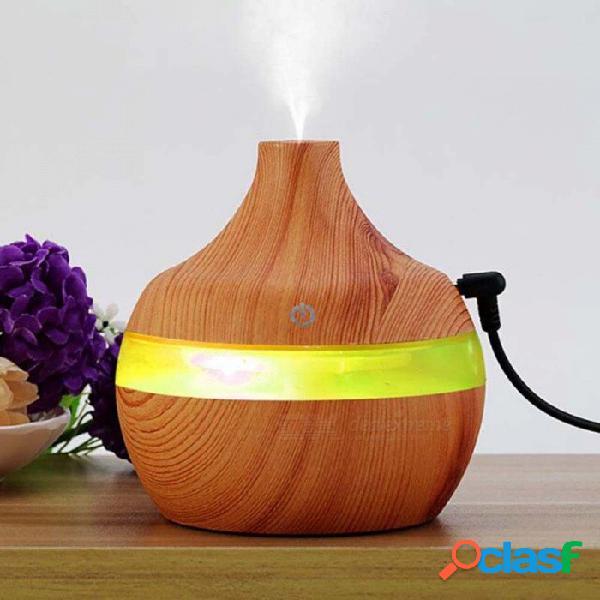 Humidificador ultrasónico del aire del difusor del aceite esencial del aroma 300ml con la chapa de madera, luz led cambiante de 7 colores para el hogar de la oficina