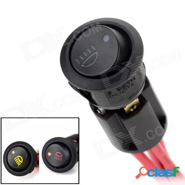 Interruptor oscilante on-off de la lámpara antiniebla diy de maitech con base de montaje + indicadores led - negro + rojo