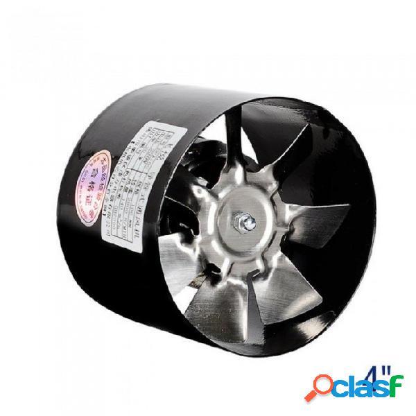 Ventilador de conductos 4 & quot pipe ventilador en línea mini extractor de conductos ventilador de extracción techo ventilación 100 mm 220 v negro