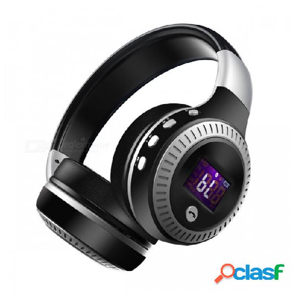 Zealot b19 auriculares estéreo inalámbricos bluetooth auriculares con micrófono, ranura para tarjeta micro-sd, radio fm para teléfono y pc negro
