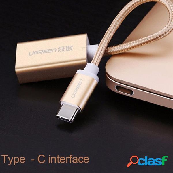 Enlace verde tipo c datos cable otg adaptador universal xiaomi 5 huawei p10 letv 1s / 2 teléfono móvil 11cm