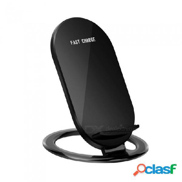 Soporte inalámbrico rápido cwxuan 10w para iphone x 8 / 8plus, samsung s9 s8 s7, cualquier teléfono estándar qi