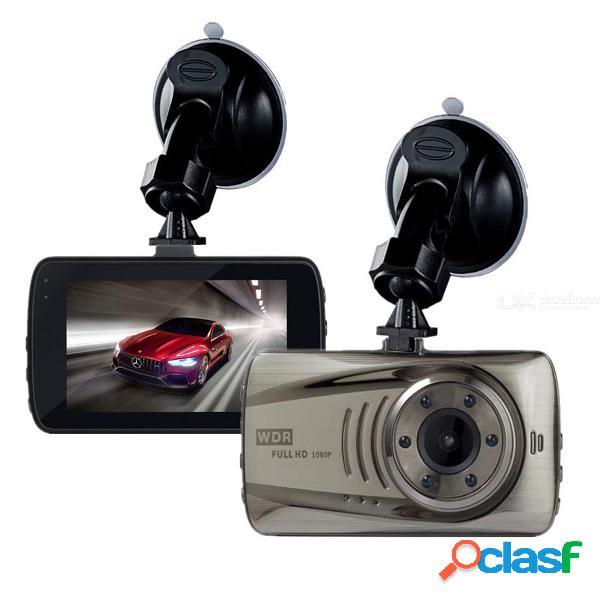 3.0 pulgadas de alta definición 1080p cámara dvr, mini dashcam video de cámara de coches, cámara de la rociada del sensor de estacionamiento wdr
