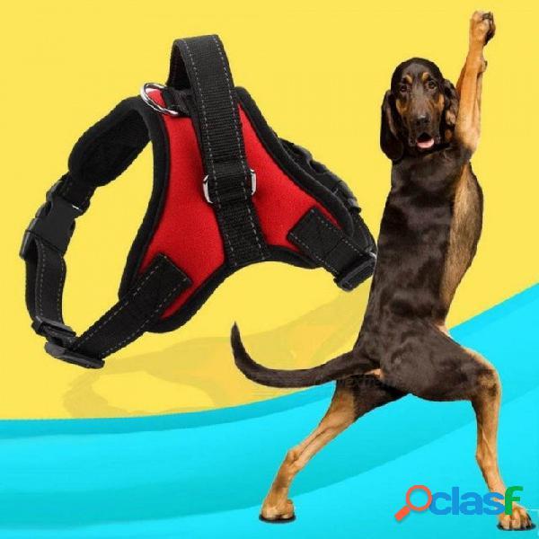 Arnés para perros mascotas chaleco reflectante cinta transpirable malla para mascotas perros correa arnés accesorios todas las estaciones s / bandera