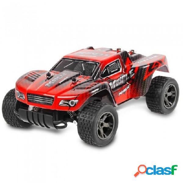 Coches rc 2.4 ghz 1: 18 rc coche rtr amortiguador de pvc cáscara todoterreno vehículo de carrera buggy control remoto electrónico coche de juguete rojo