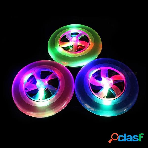 Disco de disco volador de playa de plástico disco volador led disco iluminado frisbees juguetes al aire libre color aleatorio / 23 cm