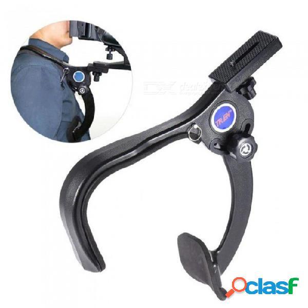 Estabilizador de la almohadilla de soporte para hombro con montaje en hombro manos libres para videocámara de la cámara dslr filmación de video hd dv a
