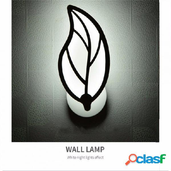 Estilo moderno de hoja, lámpara de pared led, sala, pasillo, apliques, decoración para el hogar, acrílico, aplique de pared, ac 85 ~ 265v blanco / 6-10w / natural (3500-5500k)