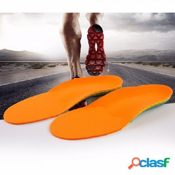 Plantilla transpirable y cómoda que absorbe los golpes pie plano plantilla de silicona antideslizante desgaste plantillas eva cuidado de los pies
