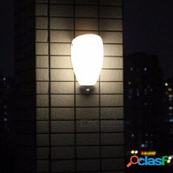 Inalámbrico led pir sensor de movimiento infrarrojo lámpara de pared noche luz novedad para porche pasillos luces lámparas lamparas blanco / blanco