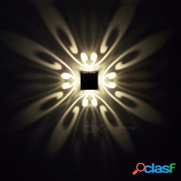 Lámpara de pared led moderna 3w montada en la pared 4 mariposa ac 85 ~ 265v hermosa luz del punto colorida lámpara led decoración interior azul
