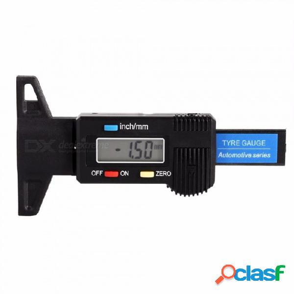 Pantalla lcd digital del coche neumático prueba de profundidad de la banda de rodadura del neumático medidor 0-25.4mm medidor herramienta calibrador tpms sistema de monitoreo de neumáticos ne