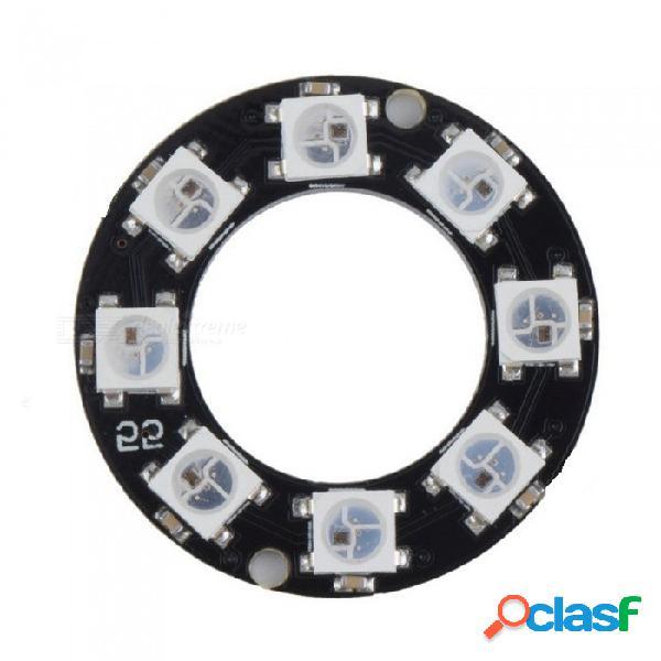 Produino ws2812 8-bit 5050 rgb led panel de la lámpara, anillo redondo led controlador placa de desarrollo para arduino