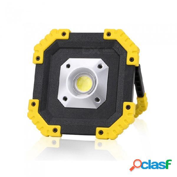 Usb portátil recargable 20 w cob led luz de trabajo, luz de inspección de mantenimiento del coche, lámpara de césped blanco