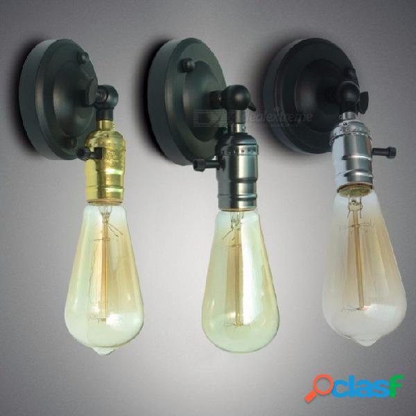 Vintage lámpara de pared led dormitorio luz led gabinete apliques lamparas decoración del hogar comedor restaurante aplique luz antigua