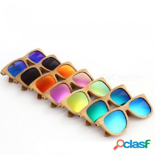 Gafas de sol de madera marca de bambú polarizada gafas de sol estuche de madera vintage gafas de sol de playa para conducir gafas de sol gris
