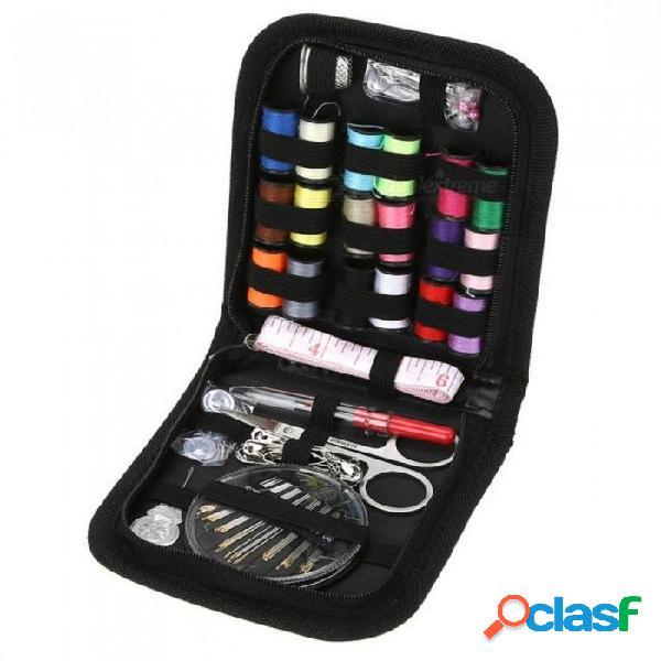 70 unids / set coser multifunción coser hilo de coser puntadas agujas herramientas kit de tela botones artesanía de viaje tijera kit de costura 70 unids / set