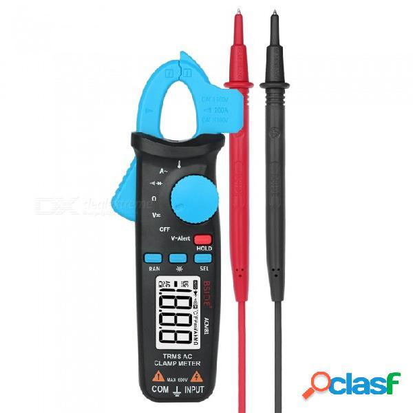 Bside acm81 trms medidor de pinza de ca 1ma multímetro automático de rango automático 2000 cuentas de voltaje probador de diodo de corriente con clip posterior