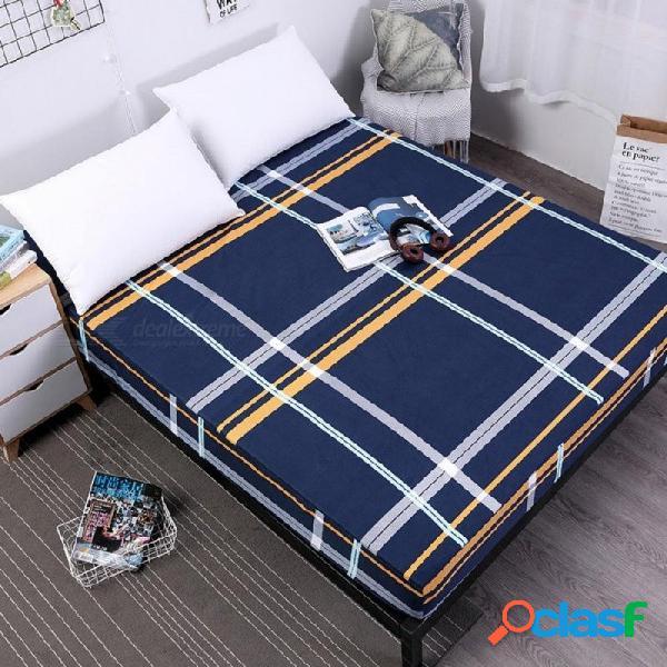 Cama de impresión cubierta de colchón impermeable colchón protector almohadilla sábana ajustable ropa de cama de agua separada con elástico 220x200x30cm / f-zayh