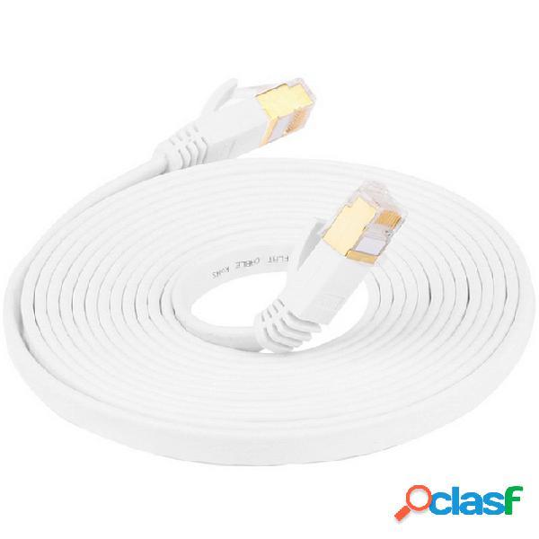 Cat.7 rj45 10 gbps / cable ethernet de alta velocidad de 600 mhz macho a red macho de internet - (200 cm)
