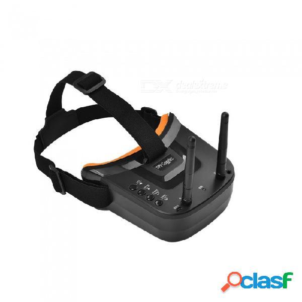 Fpv 3 pulgadas 480 * 320 pantalla 16: 9 5.8g 40ch mini gafas fpv incorporadas en batería de 3.7v 1200 mah para fpv racer quadcopter drone - negro