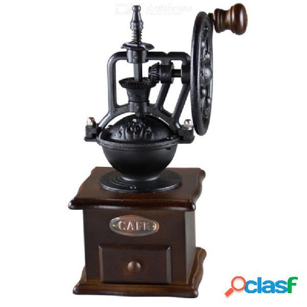 Manual retro molino de café molido molienda noria diseño mano harina molinero fabricante herramientas de cocina