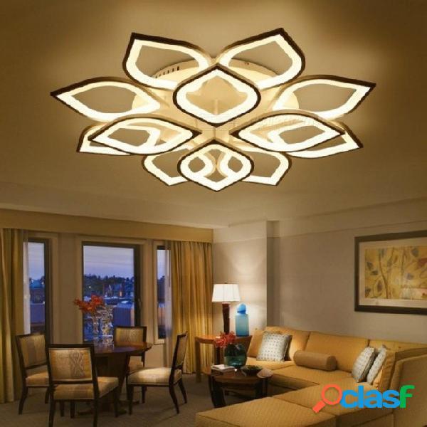 Nuevo acrílico moderno llevó luces de araña de techo para sala de estar dormitorio hogar diciembre led accesorio moderno luces de techo brillo regulable / 4 cabezas