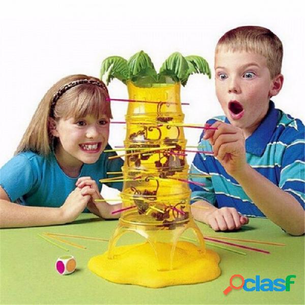 Volcado juego de mesa mono juego educativo juguete para niños regalos de cumpleaños, interacción familiar juego de mesa juguete para niños colorido