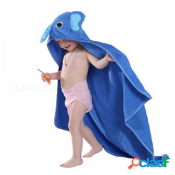 Michley niños niño toalla de algodón albornoz bebé niños niñas estilo de dibujos animados con capucha toalla de baño toalla de los niños monstruo rosado
