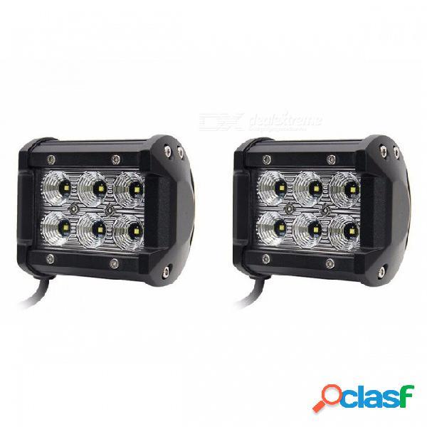 2 unids 18w led chip 4 '' luces de trabajo del coche de inundación de puntos drl para lada niva uaz toyota honda mazda 18w 4 pulgadas
