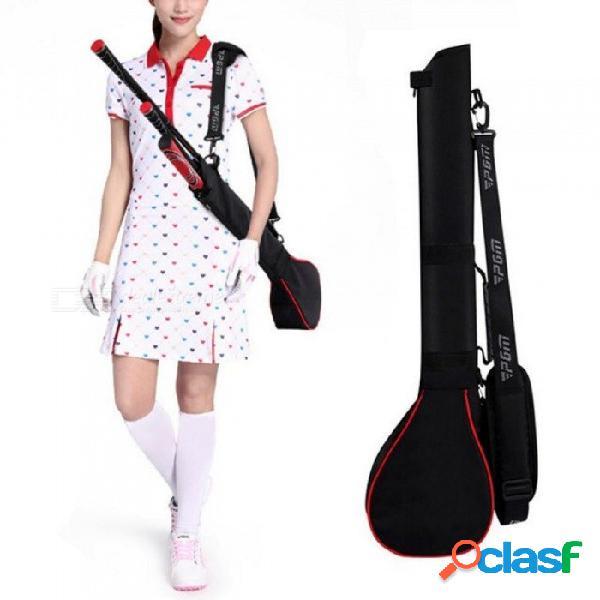 Bolsas de golf hombres bolsa de viaje de golf bolsa de entrenamiento al aire libre bolsa de entrenamiento lleno de 3 clubes de nylon portátil bolsa de golf para hombres mujeres negro rojo