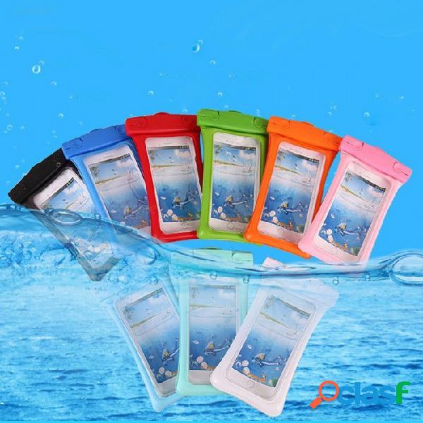Bolso protector transparente elegante del teléfono móvil del bolso impermeable para nadar al aire libre negro