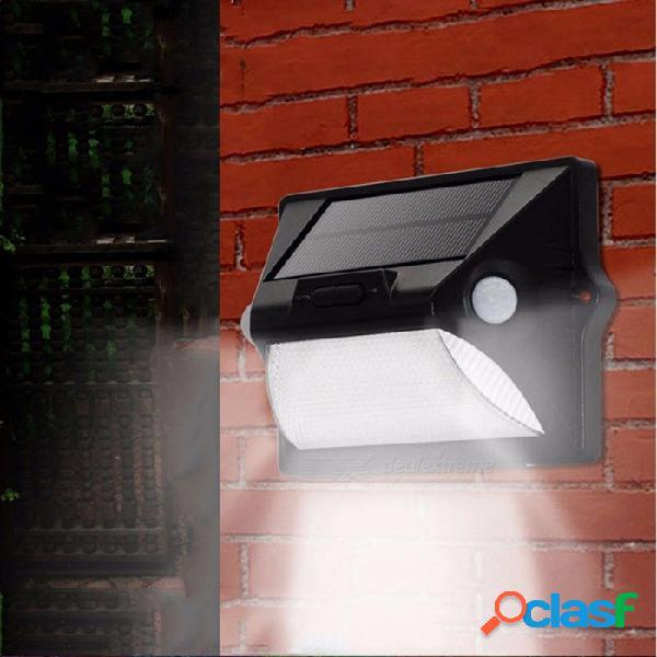Luz solar del sensor del cuerpo solar lámpara de pared led jardín exterior luz impermeable luz de calle blanco / negro