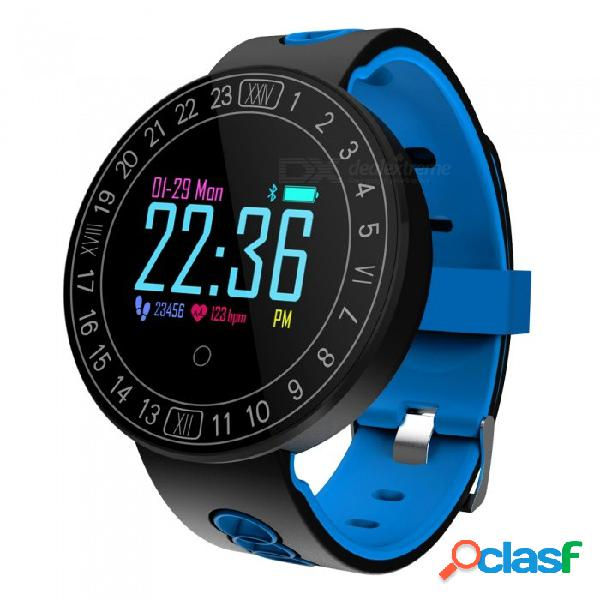 Q8 más pantalla táctil a color pulsera reloj inteligente con frecuencia cardíaca / monitor de presión arterial, podómetro
