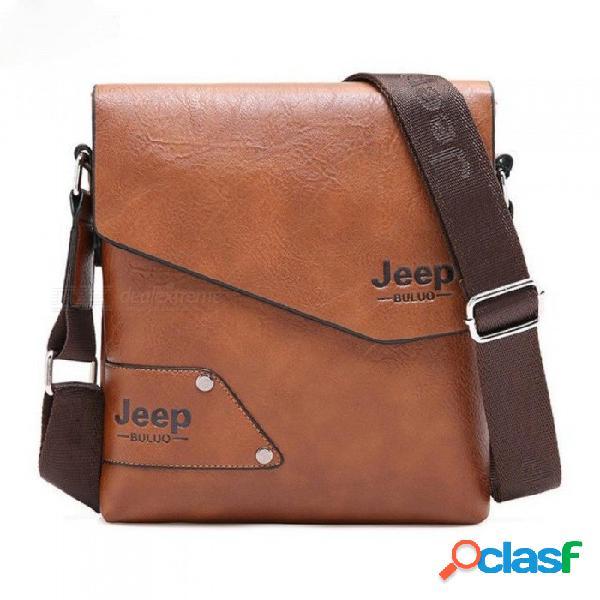 Hombre bolsa de cuero marca hombro bandolera bolsas para hombres vaca cuero dividido hombre ipad negocio mensajero maletín bolsa de viaje negro