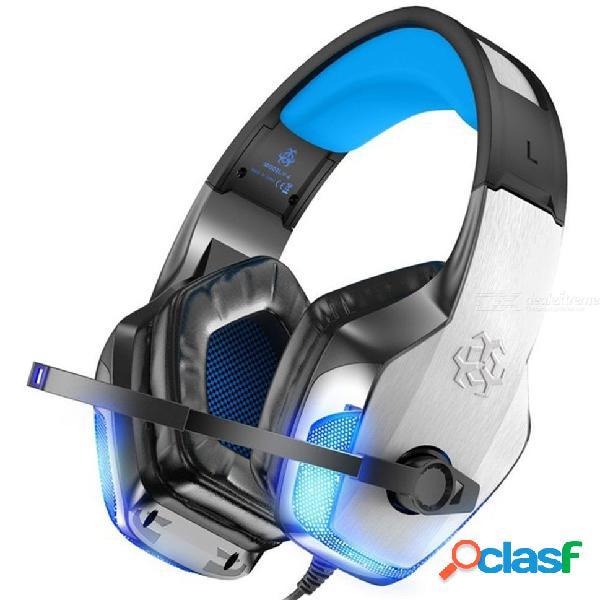 Hunterspider v4 auriculares para juegos con cancelación de ruido con luz led de micrófono para ps4 xbox one pc