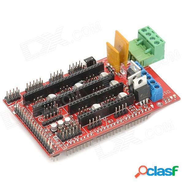 Reprap rampas 3d escudo v1.4 módulo controlador de motor / tarjeta de expansión para impresora 3d. - rojo + negro